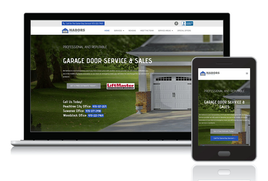 "<a target=""_blank"" style=""color: #fff;"" href=""https://naborsgaragedoors.com/"" rel=""noopener noreferrer"">Nabors Garage Doors</a>"